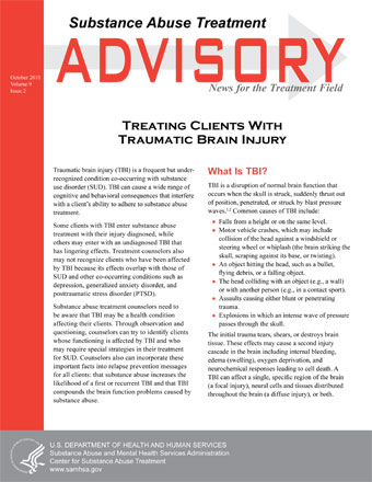 Treating Clients With Traumatic Brain Injury | SAMHSA Publications