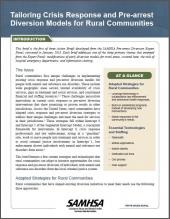 Tailoring Crisis Response and Pre-Arrest Diversion Models for Rural Communities