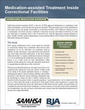 MAT Inside Correctional Facilities: Addressing Medication Diversion