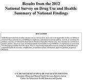 Results from the 2012 National Survey on Drug Use and Health: Summary of National Findings