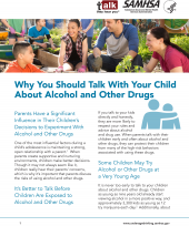 Talk. They Hear You: Why You Should Talk with Your Child About Alcohol and Other Drugs – Fact Sheet