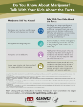 Talk. They Hear You: Do You Know About Marijuana? Talk With Your Kids About the Facts – Infographic