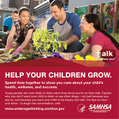 Talk. They Hear You: Help Your Children Grow Print Public Service Announcement  – Wallet Card