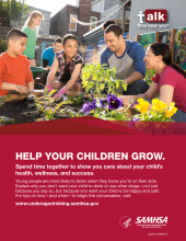 Talk. They Hear You: Help Your Children Grow Print Public Service Announcement  – Flyer