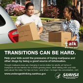 Talk. They Hear You: Transitions Can Be Hard Print Public Service Announcement – Wallet Card (Military)