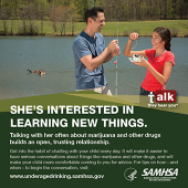 Talk. They Hear You: She's Interested in Learning New Things Print Public Service Announcement – Wallet Card