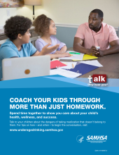 Talk. They Hear You: Coach Your Kids Through More Than Just Homework Print Public Service Announcement – Flyer