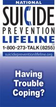 National Suicide Prevention Lifeline Wallet Card: Having Trouble Coping?