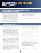 Medications to Treat Opioid Use During Pregnancy – An info sheet for providers