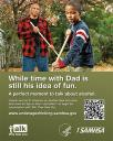 Cover image for Talk. They Hear You: Underage Drinking Prevention National Media Campaign - While time with Dad is still his idea of fun (Table Top Display)