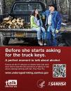 Cover image for Talk. They Hear You: Underage Drinking Prevention National Media Campaign - Before she starts asking for the truck keys (Table Top Display)