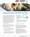 Cover image for Talk. They Hear You: Impaired Driving: Talk with Your Kids – Fact Sheet
