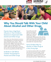 Cover image for Talk. They Hear You: Why You Should Talk with Your Child About Alcohol and Other Drugs – Fact Sheet