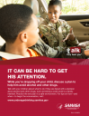 Cover image for Talk. They Hear You: It Can Be Hard to Get His Attention Print Public Service Announcement – Flyer (Military)