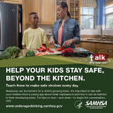 Cover image for Talk. They Hear You: Help Your Kids Stay Safe, Beyond the Kitchen Print Public Service Announcement  – Wallet Card