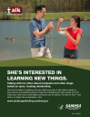 Cover image for Talk. They Hear You: She's Interested in Learning New Things Print Public Service Announcement – Flyer
