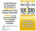 Cover image for National Suicide Prevention Lifeline: Suicide Warning Signs wallet card (Spanish)